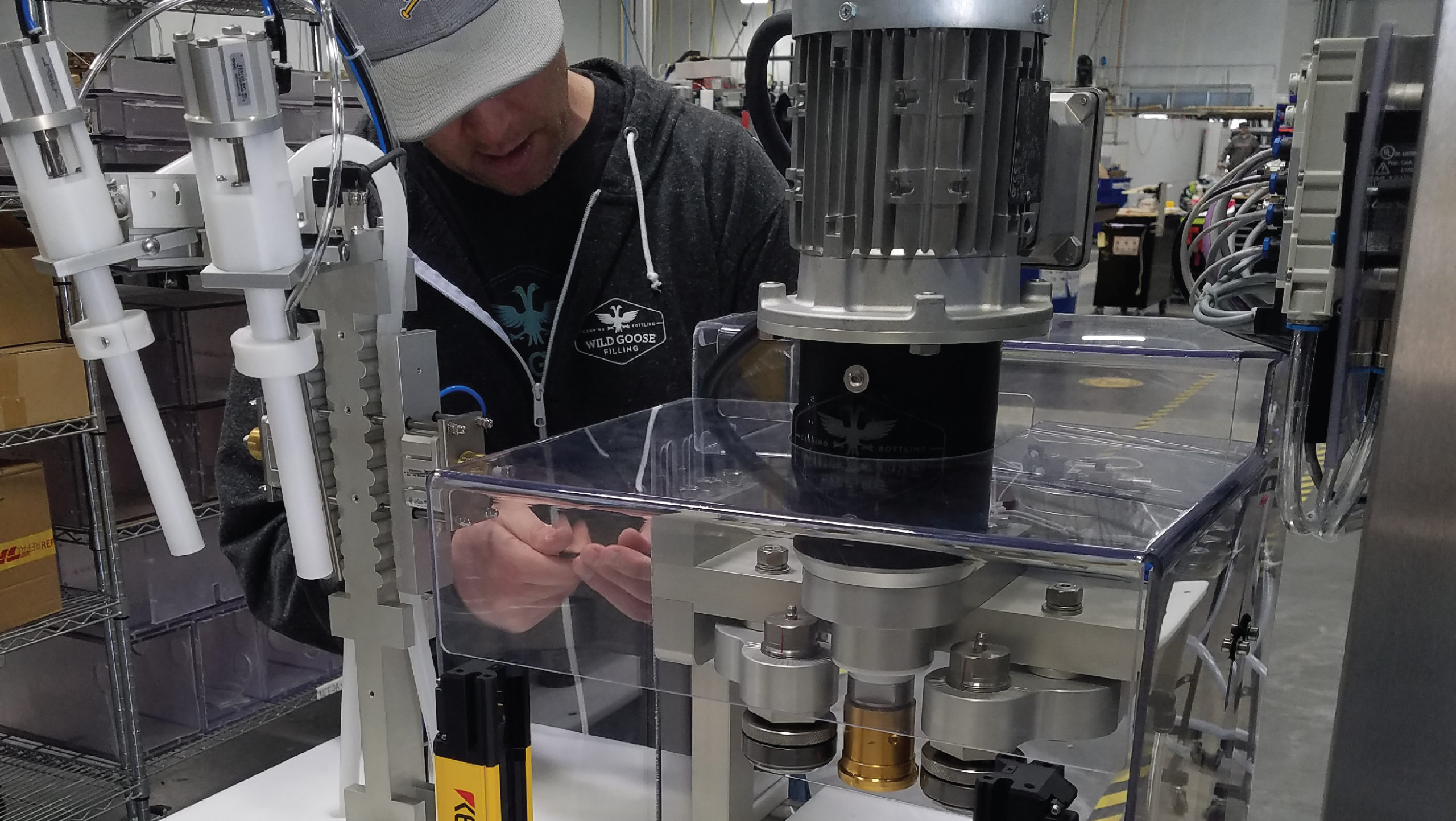 Wild Goose Filling WGC-50 Canning Line in Production