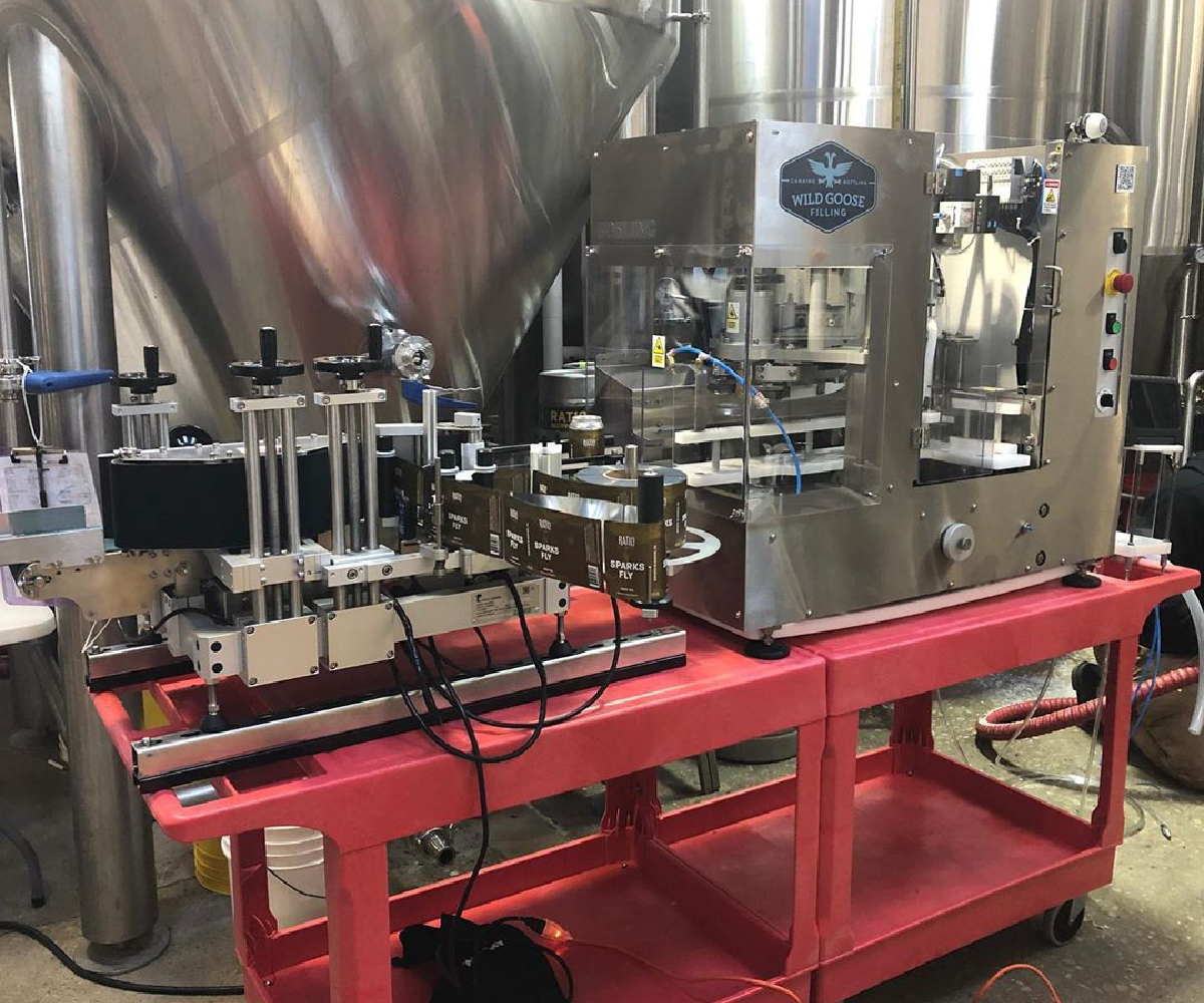 Gosling Canning Line_with Labeler_Wild Goose Filling